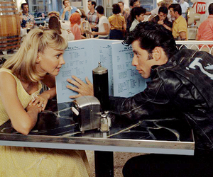 grease, love, and movie image