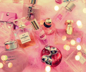 pink, perfume, and chanel image