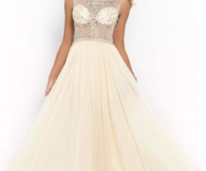 chiffon evening gown image