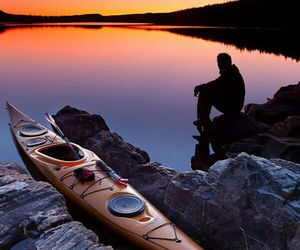 nature, kayak, and photography image