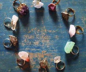 rings, stone, and ring image