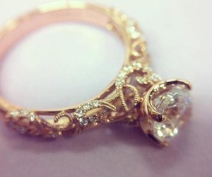 bride, engagement, and diamond ring image