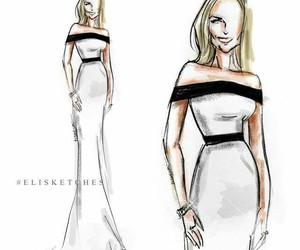 art, draw, and fashion illustration image