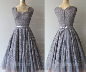 short prom dress and lace prom dress image