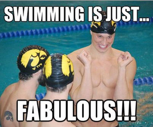 swimming, funny, and fabulous image