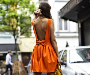 fashion, dress, and orange image