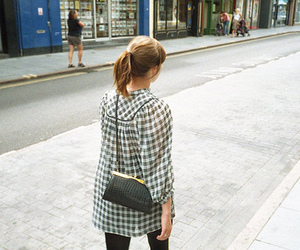 girl, purse, and street image