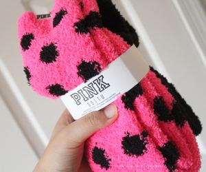 pink, socks, and vs image