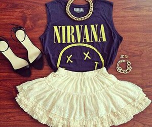 nirvana, fashion, and skirt image