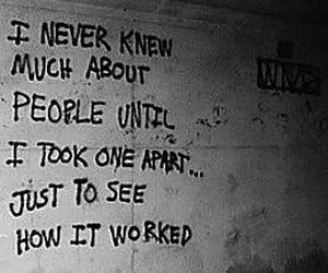quotes, people, and dark image