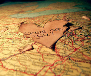 love, map, and heart image
