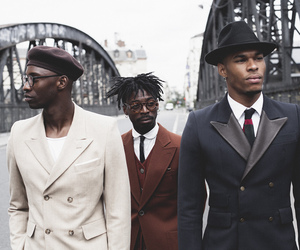 handsome, african american men, and suits image