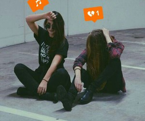 best friends, girls, and notification image