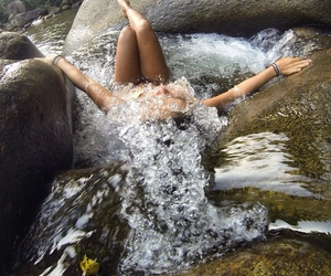 water, girl, and nature image