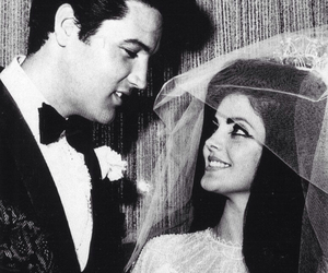Elvis Presley, couple, and priscilla presley image