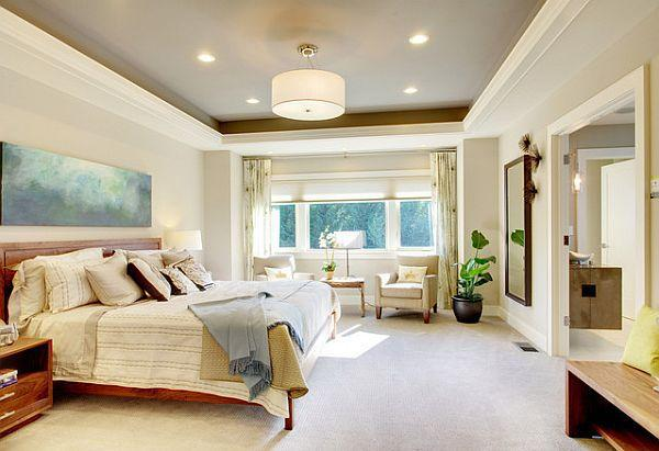 Interior Design Exciting Design Of Ceiling Paint Ideas With Interesting And Beautiful Design Style Idea Nice Design Of Ceiling Paint Ideas For The Bedroom With Pendant Lap On White Roof With White