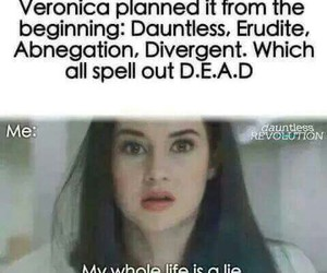 divergent, dead, and veronica roth image