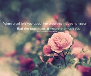 flower, girl, and quote image