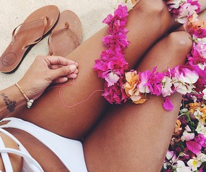beach, girly, and photography image