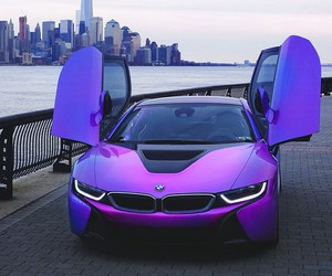 car, bmw, and purple image