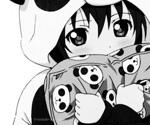 anime, panda, and kawaii image