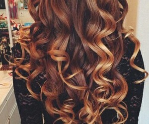 curly, girly, and hair image