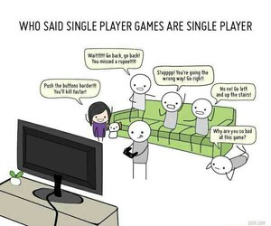 game, player, and single image