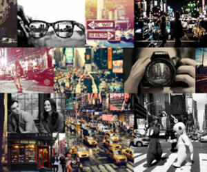 Collage, teletubbies, and new york image