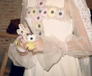 cross, flowers, and dress image