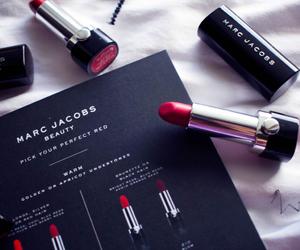 lipstick, makeup, and marc jacobs image