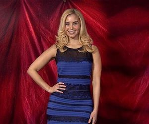 blue and black dress image