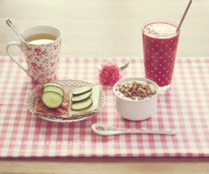 pink, breakfast, and food image