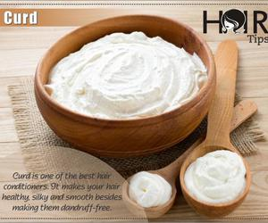 tips, hair care, and curd image