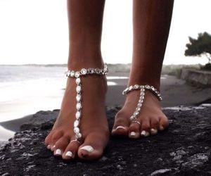 summer, beach, and feet image