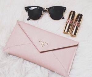 Prada, pink, and lipstick image