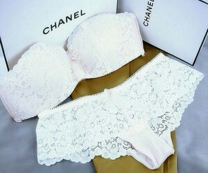 chanel, white, and lengerie image