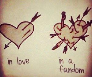 fandom, love, and heart image