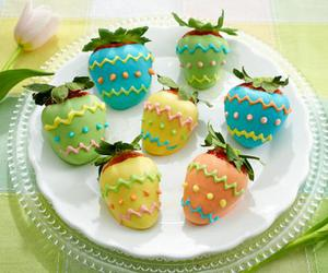 easter, food, and strawberries image