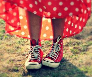 red and converse image