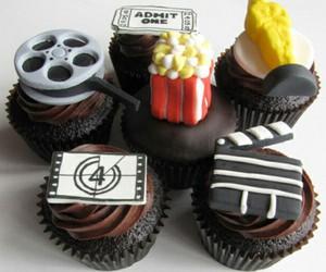 cupcake, movie, and food image