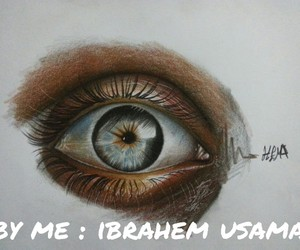 art, draw, and eye image