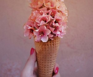 flowers, pink, and ice cream image