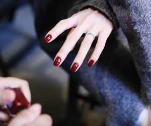 backstage, beauty, and Derek Lam image