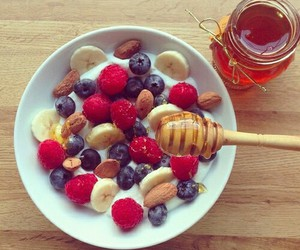 honey, fruit, and food image