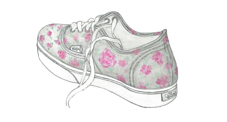 vans, shoes, and drawing image