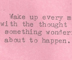 quote, wonderful, and pink image