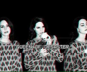 lana del rey, Queen, and black image