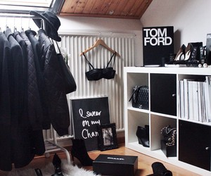 fashion, black, and room image