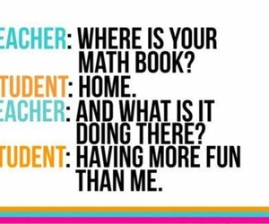 book, funny, and math image