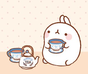 tea, molang, and cute image